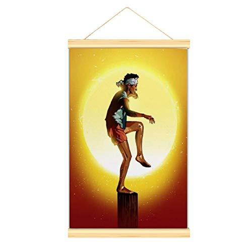 Póster de Karate Kid en lienzo y arte de la pared decorativos carteles de cocina, pasillo, dormitorio, sala de banquetes de 50 x 75 cm