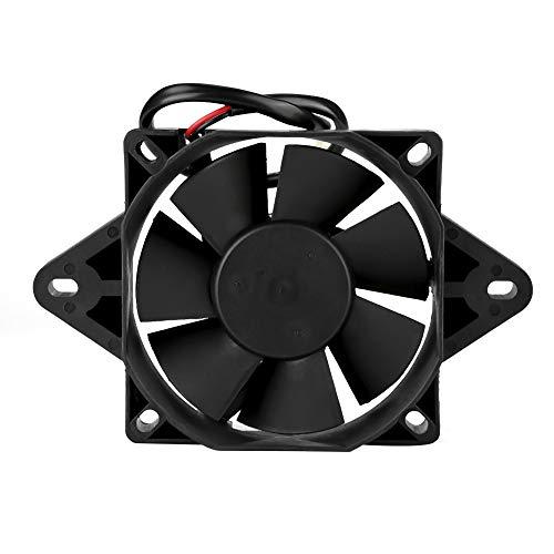 Qiilu Ventilador de refrigeración del motor de la motocicleta, radiador del ventilador de refrigeración del motor eléctrico de 12V...