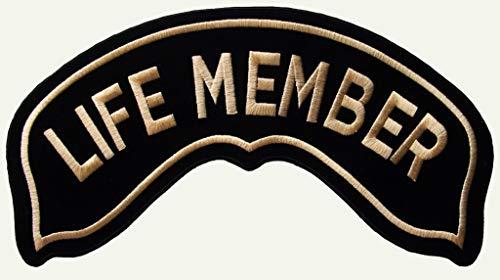 Generico Piccola Toppa Patch Roker Life Member Oro Harley Davidson