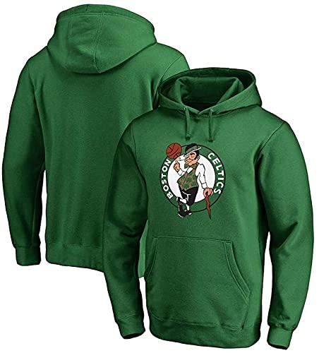 xzl NBA - Sudadera con capucha para hombre, diseño de Boston Celtics, para baloncesto, color verde y gris