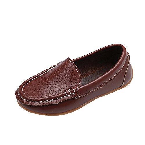 Kleinkind Kinder Schuhe Baby Mädchen Jungen Bootsschuhe Einfarbig Turnschuhe Freizeitschuhe Leder Lazy Sneaker