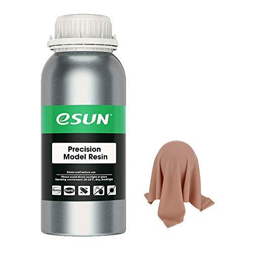 eSUN LCD UV 405nm Roja Wax-Like 3D Resina Rápida Curado UV Resina Alta Precisión para LCD Impresora 3D Fotopolímero Resina Líquida de Impresión 3D, 500g Natural