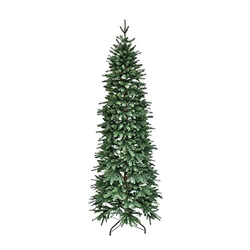 XONE Albero di Natale Fred Real Touch, Struttura Slim, PE+PVC, Apertura Ombrello 180cm
