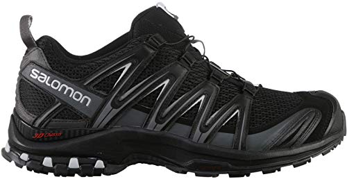 Salomon XA PRO 3D, Scarpe da Trail Running Uomo, Nero (Black/Magnet/Quiet Shade), 45 1/3 EU