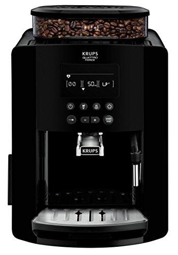KRUPS EA817010 - Ekspres do kawy Arabica Essential - 1,7 l - Mlynek do ziaren 260 g - 1450 W - 15 batonów - Czarny