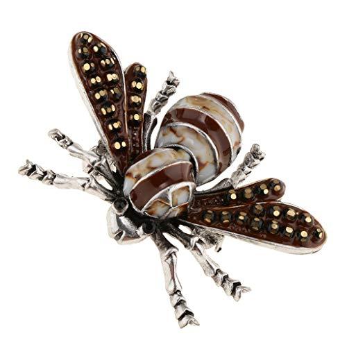 dailymall Insekt Biene Form Perle Sicherheit Brosche Pin Für Hochzeit Brautkleid, Braun
