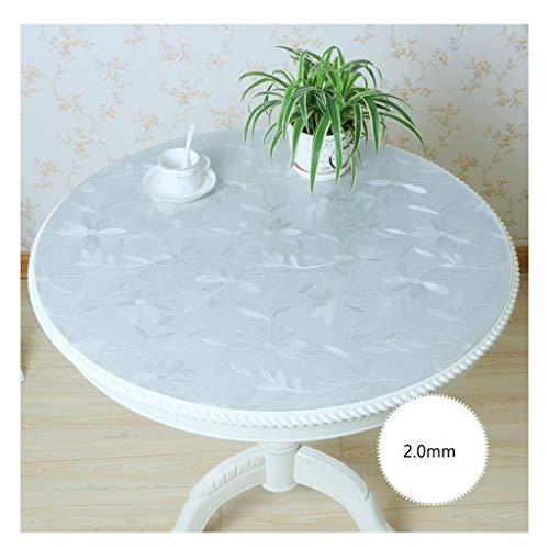 &Nappes Nappe Imperméable Transparente Ronde PVC nappe de table (Couleur : A, taille : Round-130cm)