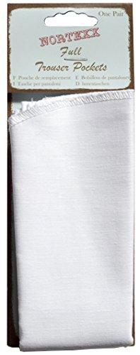 Nortexx Poche de Rechange en Coton pour Pantalon Crème
