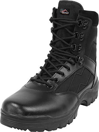 normani Herren Tactical Boots mit Thinsulate® Fütterung und Reißverschluss Farbe Schwarz Größe 13=46
