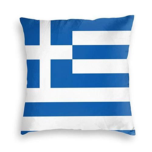 SUN DANCE Funda de cojín decorativa suave con la bandera de Grecia para sofá, coche, cama, 50,8 x 50,8 cm