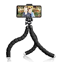 【Universal Phone Mount Adapter】Works for smartphones up to 3.54 inch wide like Smartphones. By a standard adaptor screw thread, it is compatible with digital cameras like Nikon/Canon, DSLR, Action Cameras(adapters Included). 【Durability For Years】Fle...
