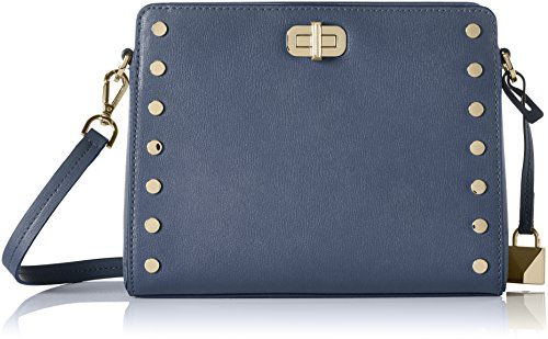 """100% Leather. ? Gold-Tone Hardware Adjustable Strap: 22""""-25"""" Interior Details: Back Zip Pocket, Front Slit Pocket, Center Zip Compartment, Front Turn-Lock Compartment Lining: 100% Polyester ? Turn-Lock Fastening 9.5""""W X 7.1""""H X 4""""D"""