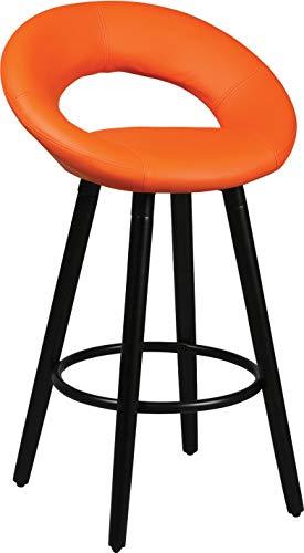 Destock Meubles - Set di 2 sgabelli in PVC, colore: Arancione