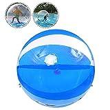 WYLDDP 1.5M Water Walking Ball Zorb Ball Gonfiabile Palla Acqua Criceto Umano Palla Corpo Bubble Ball Giocattoli Palla da Ballo Palla Blu Trasparente
