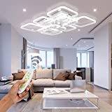 Modern LED Ceiling Light Ceiling Lamps Creative 9-Square Design Flush Mount Light Fixture 3000K-6500K Dimmable with Remote Control Ceiling Light Fixtures for Living Room Bedroom Dining Room Lighting