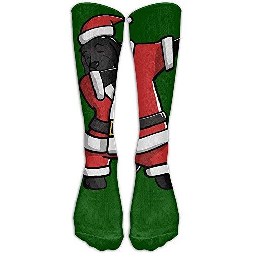Ginger-Ale Dabbing Newfoundland Ugly Christmas Athletic Tube Medias Calcetines Hasta La Rodilla Sport Long Sock One Size