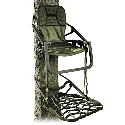 Xtreme Outdoor Products XOP Ambush XL – Aluminum Climbing Tree Stands for Hunting, XOP Green.