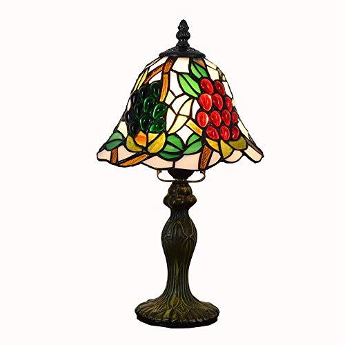 BINGFANG-W dormitorio 8 pulgadas de la lámpara de escritorio de bolas de color rojo dormitorio creativo vidrio del color de la uva de la personalidad creativa creativo de la uva pequeña lámpara de mes