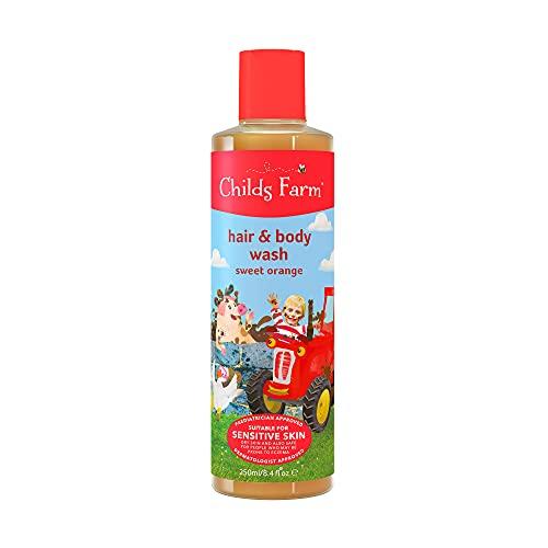 Childs Farm - Jabón de cabello y cuerpo, Naranja Dulce Orgánica, 250ml, 1 unidad