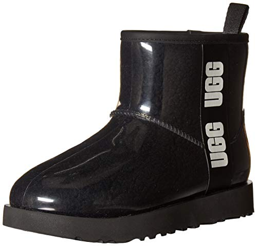 UGG Classic Clear Mini Boot, Black, Size 8