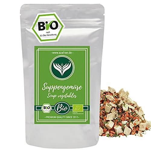 Azafran BIO Suppengemüse für Brühe ohne Hefe, Glutamate, Fett, Salz und Zucker 500g