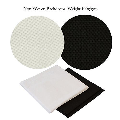 Slow Dolphin Fabric Non Woven 6.5x10 ft Photography Photo Video Studio Backdrop Background Kit, White Black Chromakey Backdrops, Backdrop Support Stand with Carry Bag