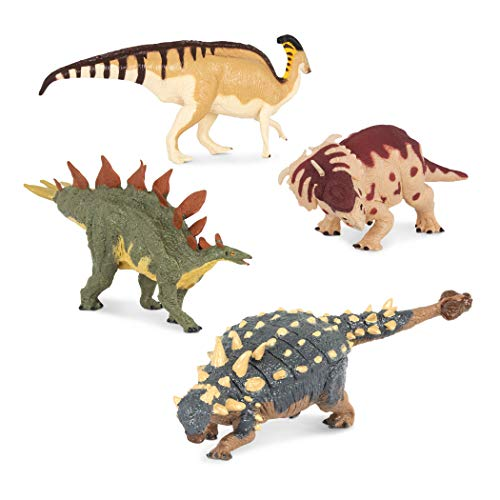 Terra by Battat – 4 Dinosaur Toys, Medium – Dinosaurs for Kids & Collectors, Scientifically Accurate & Designed by A Paleo-Artist; Age 3+ (4 Pc)