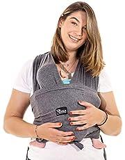 Koala Babycare® Une écharpe de portage facile à enfiler, réglable, unisex - Porte-bébé multifonctionnel pour les bébés jusqu'à 10 kg - Écharpe de portage - Anthracite - Design Enregistré KBC®