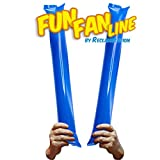 FUN FAN LINE - Packung mit 20 Stück Bam Bam Inflatable Stick Set für fußball Party, musikparty,...