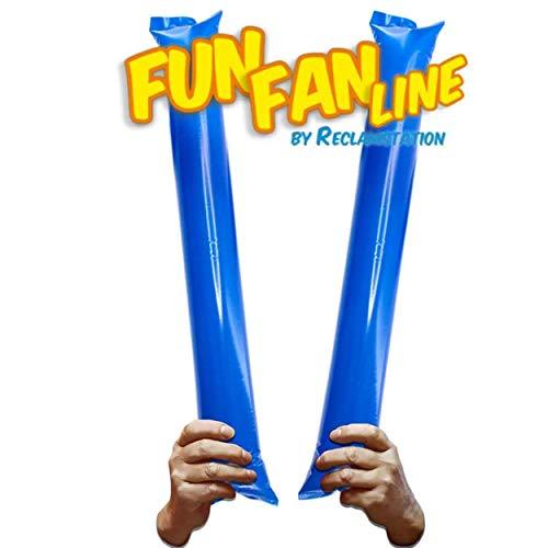 FUN FAN LINE® - Pack 20 Pares de Aplaudidores hinchables ruidosos de...