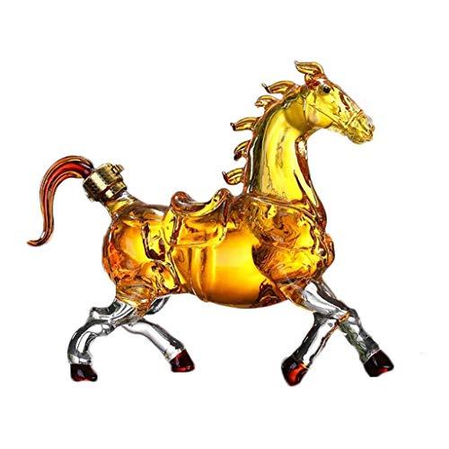 WJCCY Decantador de diseño de Caballos, aireador de Botella de Vino Animal, Vidrio de Alto borosilicato, Bebedor/Amantes del Vino, Gran Regalo