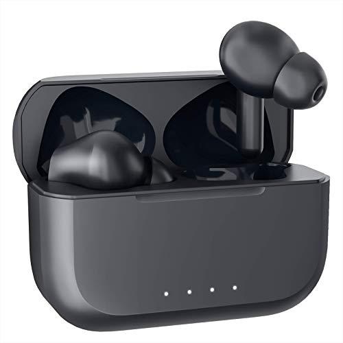 【2021最新型 Bluetooth イヤホン】 OKIMO ワイヤレスイヤホン Bluetooth 5.0 ブルートゥース イヤホン Hi-Fi 高音質 完全ワイヤレス イヤホン 【400mAh / IPX6防水規格 / Siri対応/AAC対応/マイク内蔵/適合確認済み】ウェブ会議 (iPhone Android 対応) (black)