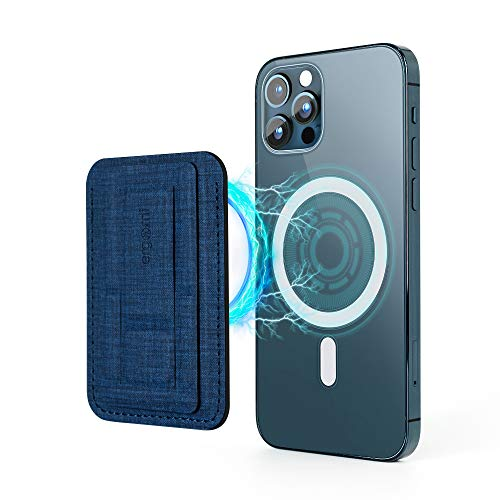 SenseAGE x ergomi Magnetic Cell Phone Wallet, Slim Hercules Ergonomic Phone Dock, Cradle, Stand for Office Desk, Compatible with iPhone 12 mini/12/12 Pro/12 Pro Max, Navy