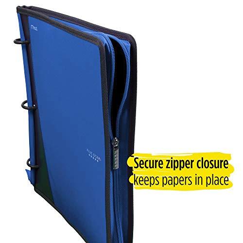 Five Star Flex Hybrid NoteBinder, 1 Inch Ring Binder, Notebook and Binder All-in-One, Cobalt (73418) Photo #2