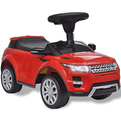 vidaXL Kinder Rutschauto mit Musik Rot Rutscher Kinderauto Fahrzeug Bobbycar
