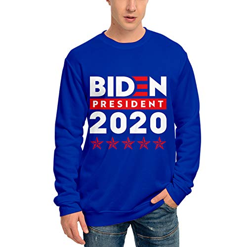 RENDONG Joe Biden T-Shirt Sweat-Shirt 2020 Président Élection Chemise À Manches Longues Imprimé 3D Casual Col Rond Sweat-Shirt,G,S
