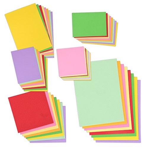 Lot géant de papier coloré de 240feuilles au total - Papier de travaux manuels de 130g/m²