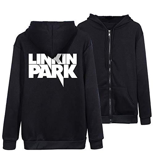 Linkin Park Pullover Trendy Studenten Mantel Frühling und Herbst-Mode Zipper dünner Mantel dünner wilder Strickjacken-Ober College Style Klassisches T-Shirt lose lange Hülsen-beiläufige Persönlichkeit