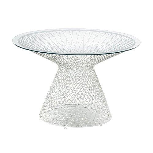 emu Heaven - Mesa de jardín (120 cm de diámetro, cristal t
