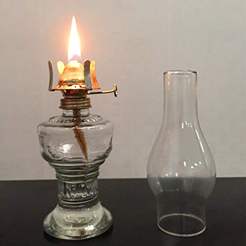 TRANSPLANT 32cm Glass Kerosene Lamp Oil Lamp Glass Classic Retro Home Decoration Lamp Wedding Festival Decoration Oil Lamp Large Capacity