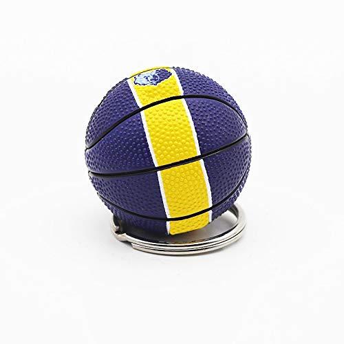 aolongwl Llavero de moda de deportes llavero de coche llavero de baloncesto llavero colgante para regalo favorito de deportista MemphisBA6