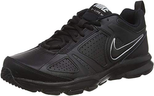 NIKE T-Lite 11, Zapatillas de Cross Training Hombre, Schwarz Black Black Metallic Silver, 45.5 EU