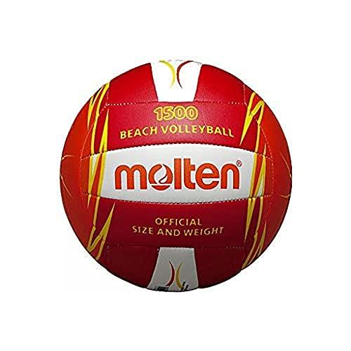 Molten, Pallone da beach volley, Multicolore (Rot/Weiß/Orange), Misura 5