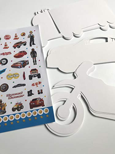 TopgadgetsUK 20 Craft Card & Sticker Kit Paint and Imagine Sticker Book Included Children Fun Stickers