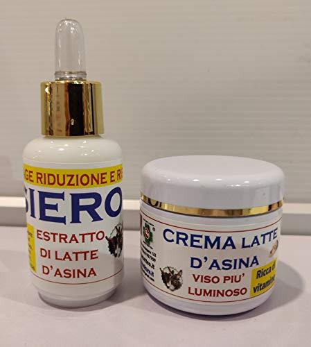 Smcosmetica Trattamento Antirughe Forte Siero+Crema con Latte d'Asina, 60 Ml