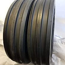 (2 TIRES + 2 TUBES) 7.50-16, 6 PLY ROAD WARRIOR F2 3-Rib Farm Tractor Tires 7.50x16