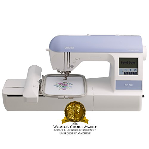 """Brother Embroidery Machine, PE770, 5"""" x 7"""" Embroidery Machine with Built-in Memory, USB Port, 6..."""