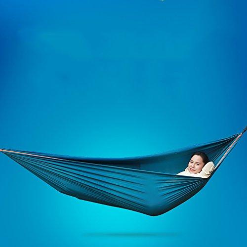 QAZSE Hamac extérieur de Camping de Double de balançant Le hamac de Tissu de Parachute de Loisirs de randonnée Adulte, 260 * 150mm,Vert