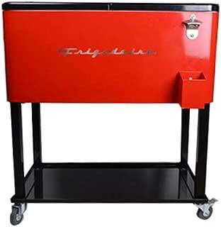 Frigidaire EFPC400-RED Retro 73L Rolling Metal Cart Cooler/Ice Chest