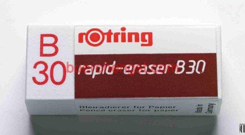 Los Rotring borradores son herramientas innovadoras que trabajan enrollando partículas de grafito y de suciedad en el polvo del borrador. La superficie borrada se mantiene limpia, sin manchas ni marcas El polvo se cepilla fácilmente de la superficie ...